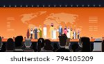 arab business people group on... | Shutterstock .eps vector #794105209