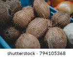 closeup of small whole fresh... | Shutterstock . vector #794105368
