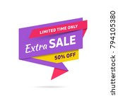 sale banner design template.... | Shutterstock .eps vector #794105380