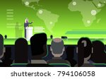 business conference with arab... | Shutterstock .eps vector #794106058
