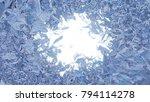 beautiful window freezing from...   Shutterstock . vector #794114278