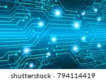 binary circuit board future... | Shutterstock .eps vector #794114419
