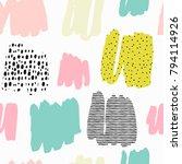 trendy vector seamless pattern... | Shutterstock .eps vector #794114926