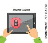 mobile security  data... | Shutterstock .eps vector #794115340