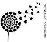beautiful stylized black... | Shutterstock .eps vector #794115886