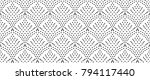 seamles dots pattern  abstract... | Shutterstock .eps vector #794117440