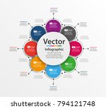 infographic design template can ... | Shutterstock .eps vector #794121748