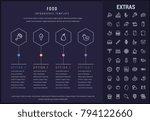 food options infographic...   Shutterstock .eps vector #794122660