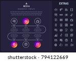 media timeline infographic... | Shutterstock .eps vector #794122669