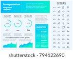 transportation infographic... | Shutterstock .eps vector #794122690
