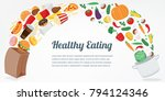 healthy lifestyle concept....   Shutterstock .eps vector #794124346