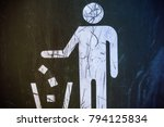 the symbol of dumping garbage... | Shutterstock . vector #794125834