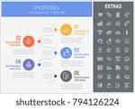 shopping infographic timeline... | Shutterstock .eps vector #794126224