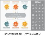 maternity infographic template  ... | Shutterstock .eps vector #794126350