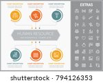 human resource infographic... | Shutterstock .eps vector #794126353