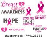 awareness woman october month.... | Shutterstock .eps vector #794128183