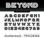 vector of futuristic alphabet...