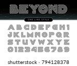 vector of futuristic alphabet... | Shutterstock .eps vector #794128378
