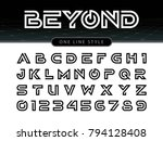 vector of futuristic alphabet... | Shutterstock .eps vector #794128408