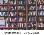 toned image of colorful books... | Shutterstock . vector #794129836