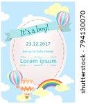 baby shower template. happy... | Shutterstock .eps vector #794130070