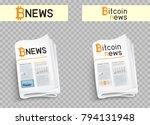bitcoin blockchain news logo... | Shutterstock .eps vector #794131948