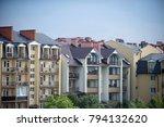 houses with windows  balconies  ... | Shutterstock . vector #794132620