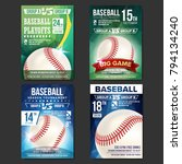 baseball poster set vector.... | Shutterstock .eps vector #794134240