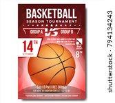 basketball poster vector.... | Shutterstock .eps vector #794134243