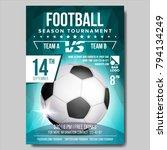 soccer poster vector. banner... | Shutterstock .eps vector #794134249