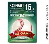 baseball poster vector. design... | Shutterstock .eps vector #794134279