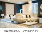 abstract blur sofa in home...   Shutterstock . vector #794134444