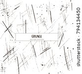 hand drawn grunge vector... | Shutterstock .eps vector #794134450