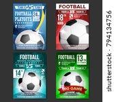 soccer poster set vector....