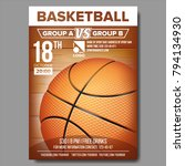 basketball poster vector.... | Shutterstock .eps vector #794134930