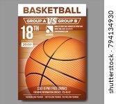 baseball poster vector. design... | Shutterstock .eps vector #794134930