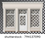 traditional small shop facade... | Shutterstock .eps vector #794137090
