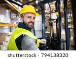 warehouse man worker with... | Shutterstock . vector #794138320