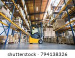 warehouse man worker with... | Shutterstock . vector #794138326