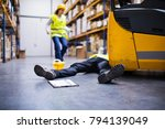 an injured worker after an... | Shutterstock . vector #794139049