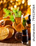 spa massage oil with treaments...   Shutterstock . vector #794139364