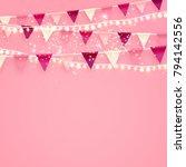 minimalistic romantic pink... | Shutterstock .eps vector #794142556