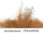 dry soil explosion on white... | Shutterstock . vector #794144950