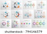 collection of colorful... | Shutterstock .eps vector #794146579
