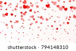 background with flying red... | Shutterstock .eps vector #794148310