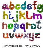 a funny alphabet of uppercase... | Shutterstock .eps vector #794149408