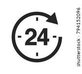 24 hours icon vector   Shutterstock .eps vector #794152096