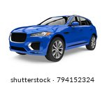 blue suv car isolated. 3d... | Shutterstock . vector #794152324