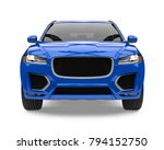 blue suv car isolated  front... | Shutterstock . vector #794152750