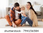 family  parenthood and people... | Shutterstock . vector #794156584